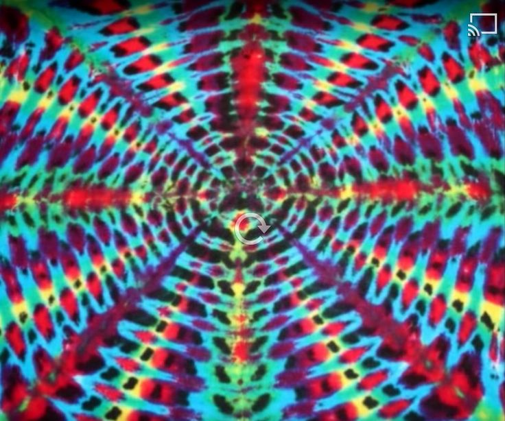 How to Tie Dye a Radio Wave Pattern - video tutorial