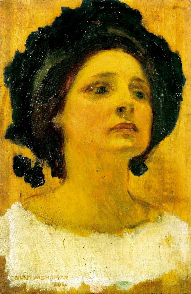 Józef Mehoffer - Wanda Janakowska, study for the painting The Muse (1896)