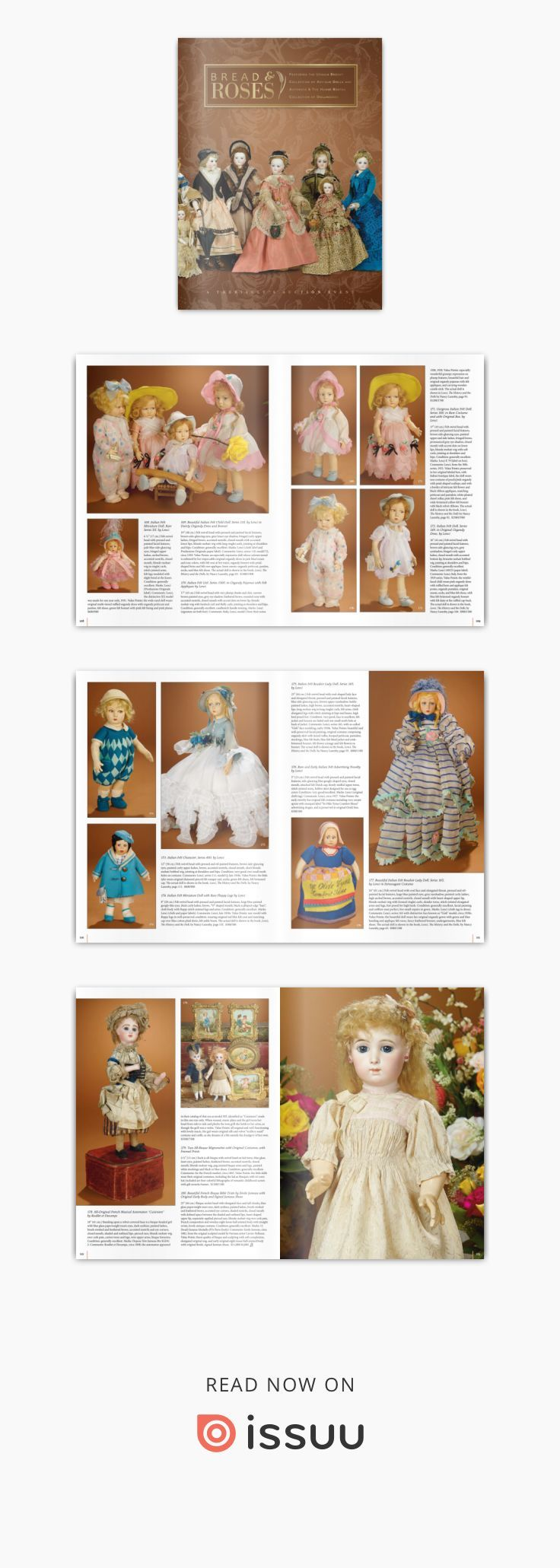 Bread & Roses - Marquis Antique Doll Auction  July 26, 2016 at the Mayflower Hotel in Washington, DC to order the catalog http://theriaults.com/catalogs/