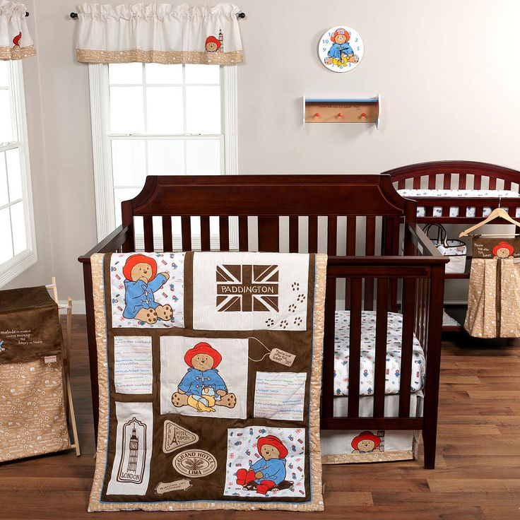Welcome to the sweet and lovable world of Paddington Bear; the marmalade-loving, duffel-coat-wearing, Wellington-booted bear from Darkest Peru. The Paddington Bear by Trend Lab 3 Piece Crib Bedding Set features a textural patched scene of large cuddly appliques which include Paddington bear, British icons and travel icons in a lovely neutral home decor color palette. Printed cotton fabrics are incorporated into the collection featuring Paddington's adorable phrases, popular book icons, an...