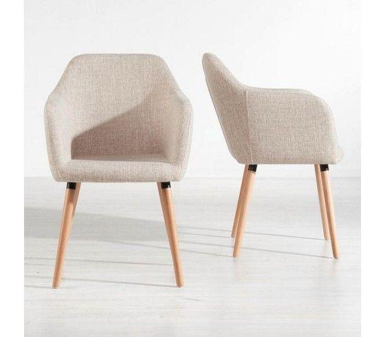 Schicker Stuhl im Retro-Look in Beige - ein Sitzplatz mit Stil