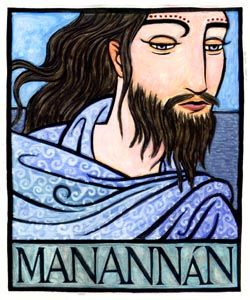 MANANNAN is the God of the Sea of the Irish Celts. He was considered one of the Tuatha De Danann, or Children of the Goddess Danu, and was the equivalant of the Welsh sea-God Manawyddan.