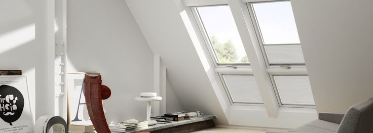 Stunning VELUX Juliet-style balcony skylights for your loft conversion or self-build.