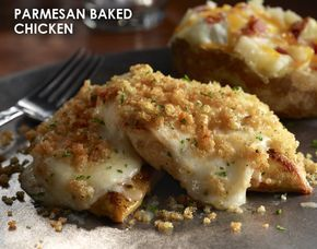 Longhorn Steakhouse Parmesan Baked Chicken recipe