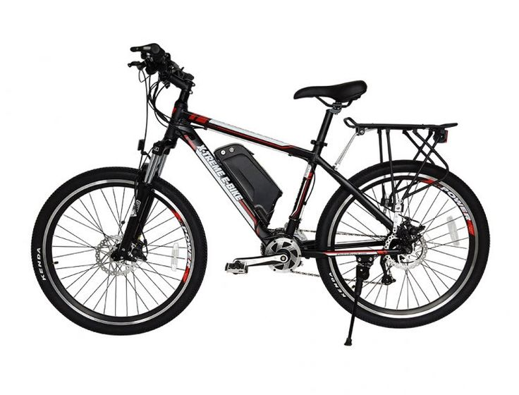 Introducing the all new X-Treme Summit 48 Mid Motor Electric Mountain Bicycle with Extra Large 10 AH 48 Volt LiPo4 lightweight battery pack. While most all other electric bicycles have the motor in th