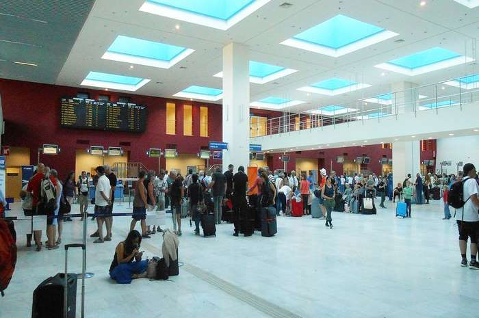 The Worst Airports in the World:      Chania International Airport on Crete, Greece People love Crete but hate the airport. Chania made Top 10 because it's chaotic. Passengers have reported having to stand in line for an hour to get their boarding passes, queueing outside in the heat because the terminal is too small; and about half an hour to just leave their luggage at check‐in. More...