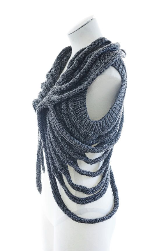 PDF Knitting Pattern Zombie post apocalyptic knit layer by MFTI