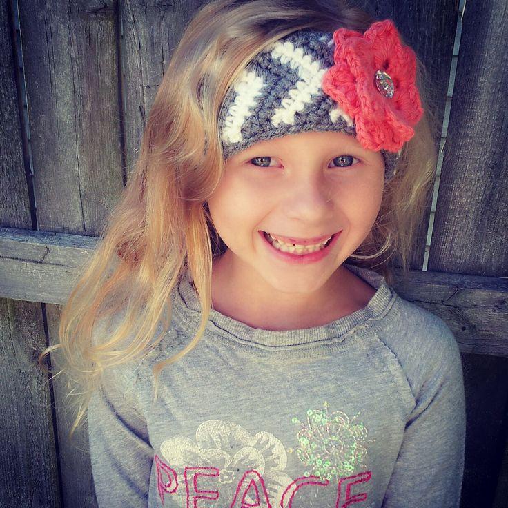 Free Crochet Chevron Ear Warmer Pattern : Chevron ear warmer/headband hand crafted by me. 8.00 ...