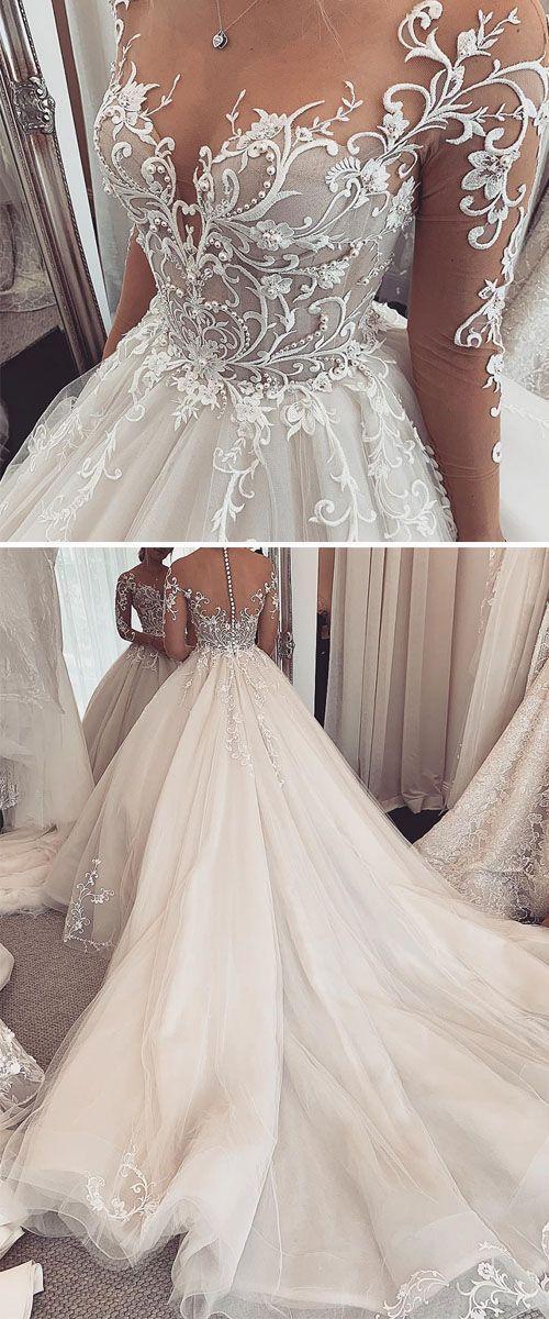 Elegant Wedding Gown For Your Big Day Laceweddingdresses Bridalgown Longsleeveweddingdresses Wedding In 2020 Ball Gowns Wedding Ball Gown Wedding Dress Wedding Dresses