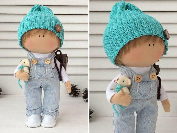 Boy doll Handmade doll Fabric doll Textile by AnnKirillartPlace