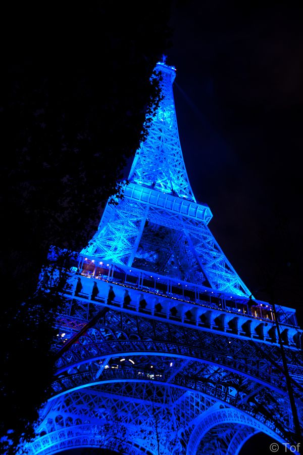 Eiffel Tower in blue by Tof  on 500px