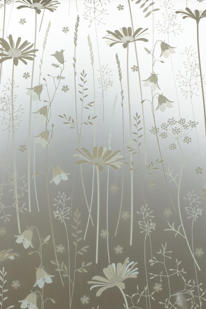 Daisy Meadow Window Film                      – Hannah Nunn         #glass #decor #patterned #windowfilm #frosted