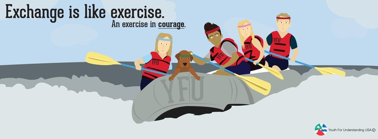 Exchange is like exercise. An exercise in courage. Learn more yfuusa.org