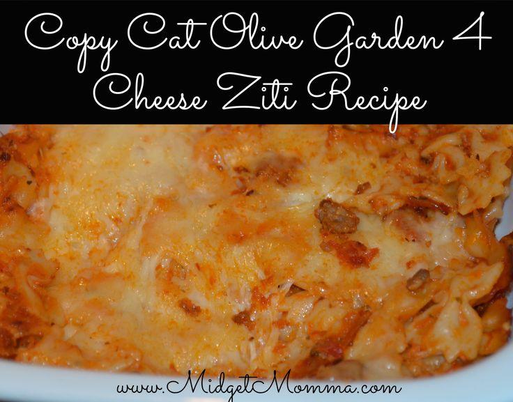 Copy Cat Olive Garden 4 Cheese Ziti Recipe