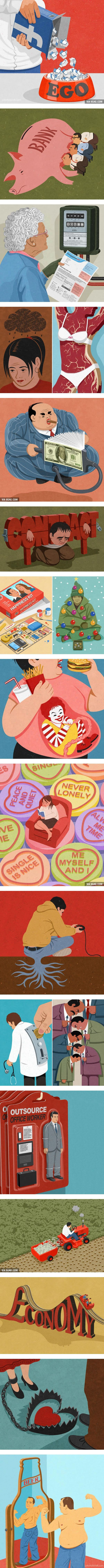 19 Satirical Illustrations With Deep Meaning Behind Them (by John Holcroft)