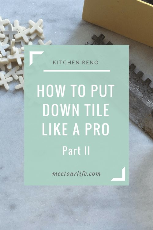 Are you thinking of putting down tile on sub floors but you don't know how to do it? In this series we will teach you how to put down tile on sub floors. Read through part II now or pin it for later.