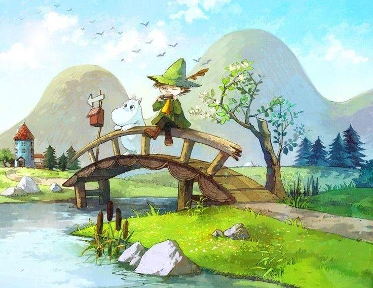 Bridge cartoon illustration via www.Facebook.com/GleamOfDreams