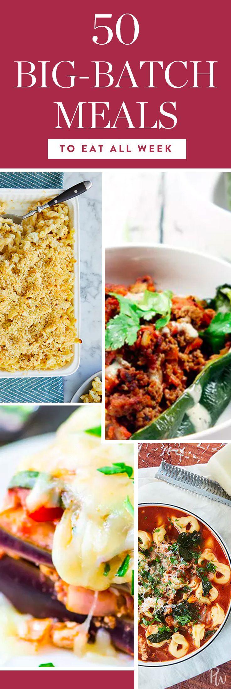 50 Big-Batch Meals to Make Once and Eat All Week via @PureWow via @PureWow