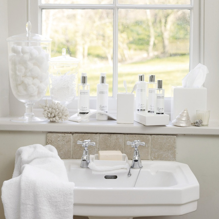Romantic white bathroom - The White Company