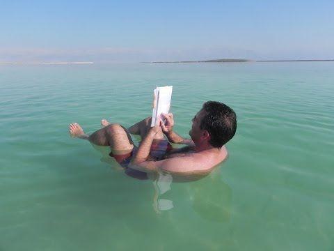 Curiosidades del mar muerto, donde desemboca el río Jordán.