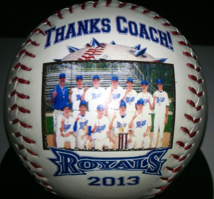 Thank the coach with our personalized sports balls!