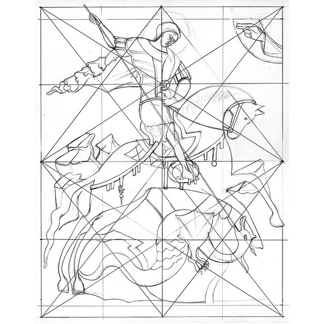 Interesting look at the geometry of an icon: St George