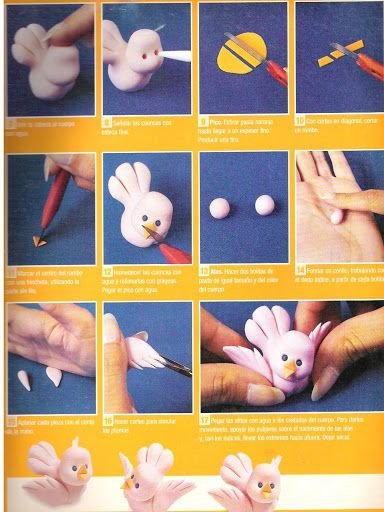STEP BY STEP DUCKLING YELLOW, WHITE AND FINCH PART N°5