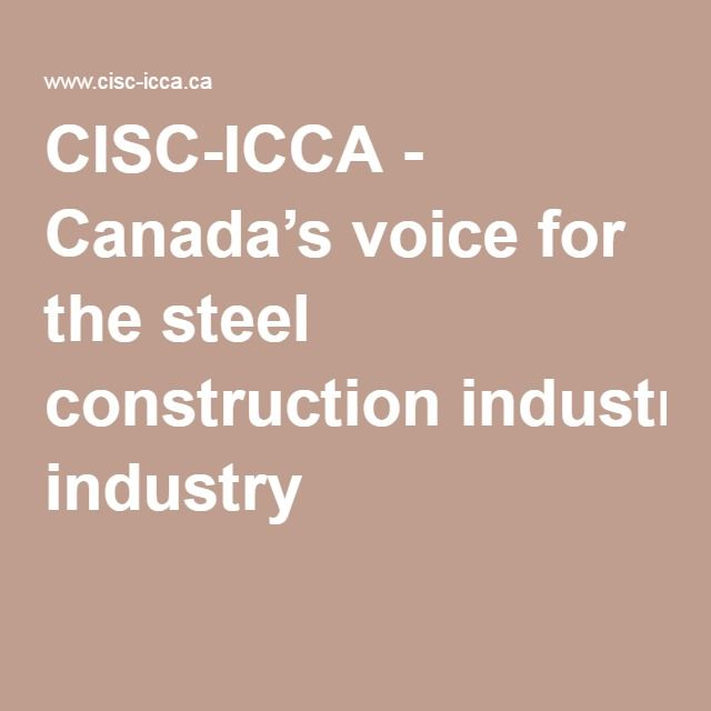 CISC-ICCA - Canada's voice for the steel construction industry