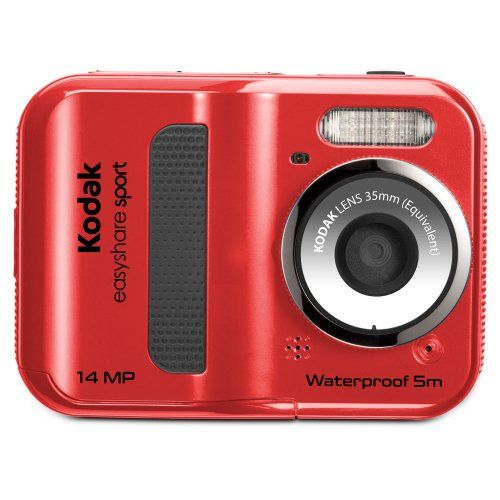 SPORT CAMERA - EasyShare Sport C135 14 MP Waterproof Digital Camera with 2.4-Inch LCD (Red) (New Model) from Kodak $72.50