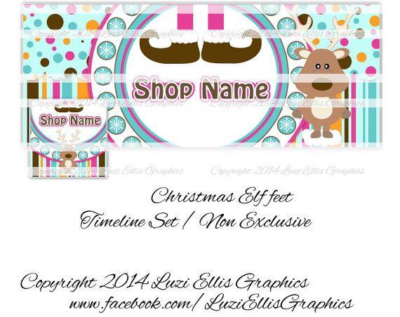Christmas Elf feet Reindeer Facebook Timeline by LuziEllisGraphics