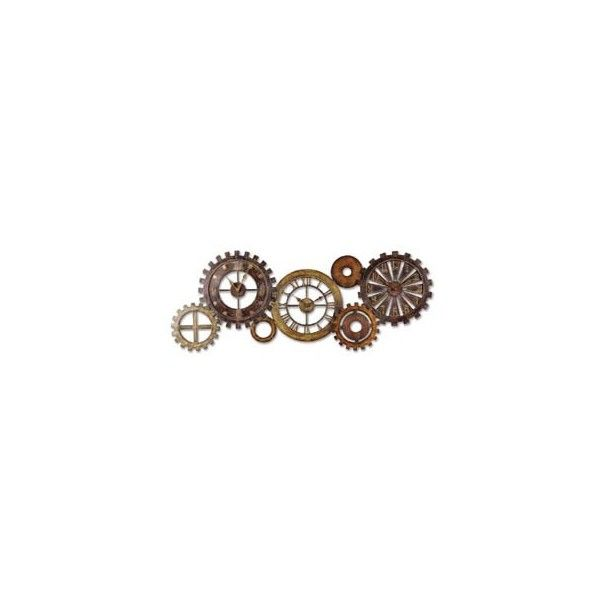 Uttermost Home Decor Accessories: Contemporary Wall Clocks (410 NZD) found on Polyvore featuring home, home decor, clocks, steampunk, backgrounds, fillers, decor, wall clock, contemporary clocks and contemporary home decor