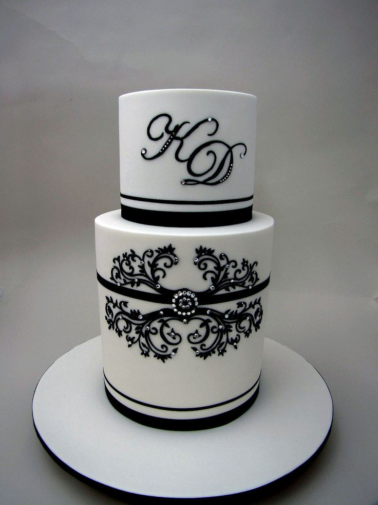 Black And White Cake Delights