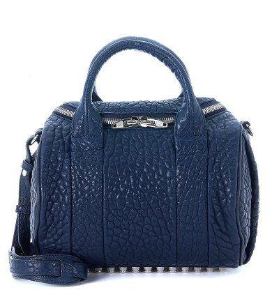 ALEXANDER WANG Bauletto Alexander Wang Rockie In Pelle D'Agnello Martellata Blu. #alexanderwang #bags #