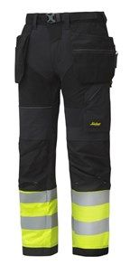 FlexiWork, High-Vis Work Trousers Holster Pockets+ CL1 — Snickers Workwear