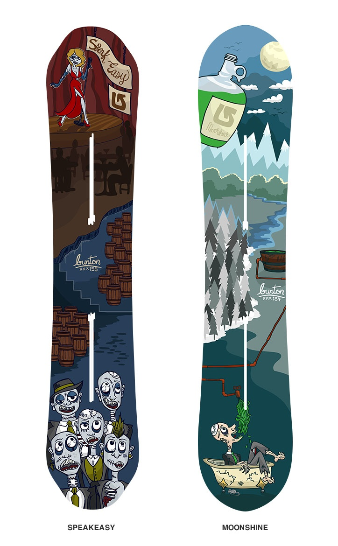 Burton Snowboard Designs Contest Submission: Moonshine ...
