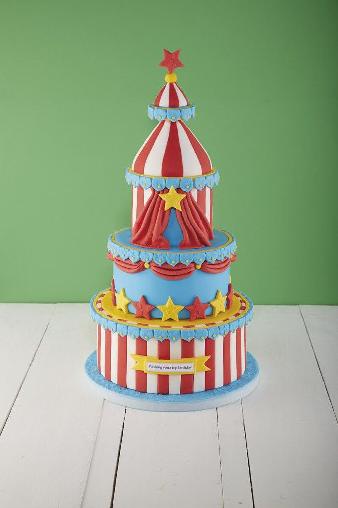 Roll, up roll up - Here's how to make the greatest cake on earth! ;) #BirthdayCake #Circus
