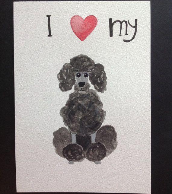 Poodle love di AstreaStudio su Etsy, $11.00