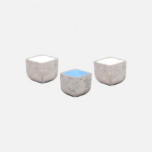Doniczki Concrete white & blue