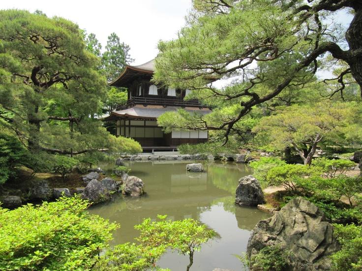 Kyoto - Ginkakuji (Silver Pavilion) is a Zen temple along Kyoto's eastern mountains (Higashiyama).