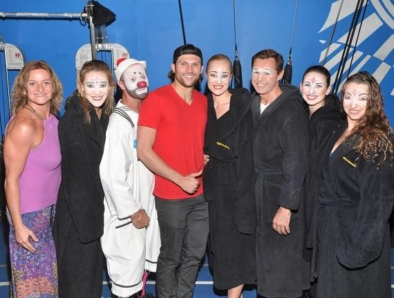 """Rio Olympic Medalist Cody Miller with cast members of """"O"""""""