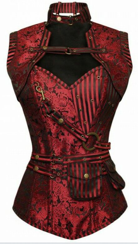 Red corset from CorsetStory