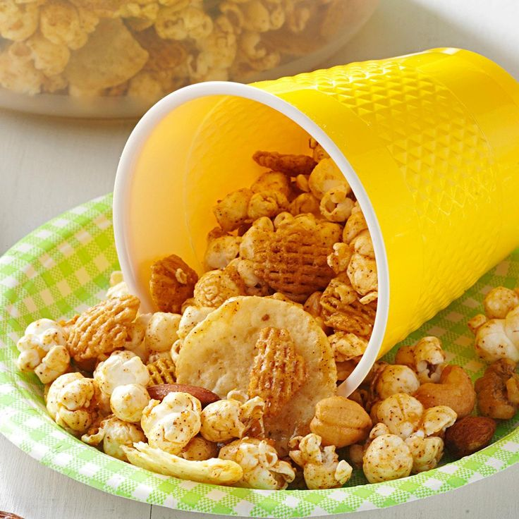 Tijuana Tidbits Recipe -Tortilla chips, chili powder and cayenne pepper lend to the Mexican flavor of this snack mix, while corn syrup and brown sugar add a bit of sweetness. I like to package it in holiday tins to give as gifts.—Beverly Phillips, Duncanville, Texas