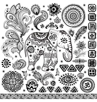 Tribal vintage ethnic pattern set vector 1687681 - by transia on VectorStock®