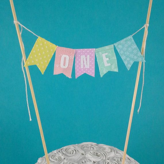 Rainbow Cake banner smash cake birthday by Hartranftdesign on Etsy