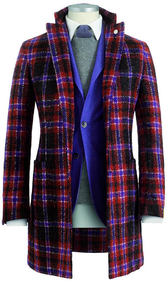#cappotto da uomo #coat in lana #boucle fantasia #madras  #giacca da uomo #blazer modello Rough tinto capo disegno #jacquard misto lana #fashion #menswear #Lubiam Luigi Bianchi Mantova