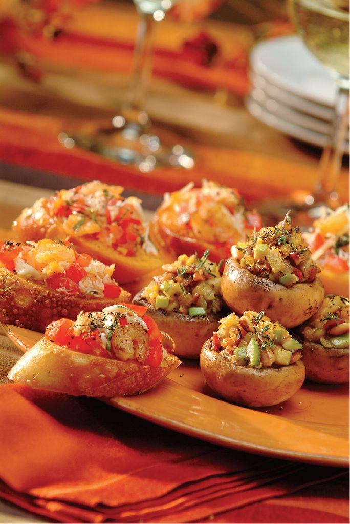Apple, Bacon & Cheddar Stuffed Mushrooms from Save Mart