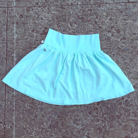 LACOSTE Polo Mini Skirt Robins egg blue mini skirt in lovely cotton polo fabric. Comfortable wide waist band. Size 40 or a US 6. In great gently pre loved condition. Lacoste Skirts Mini