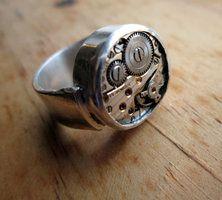 My first sterling silver watch work ring Forsaken8's deviantART Gallery