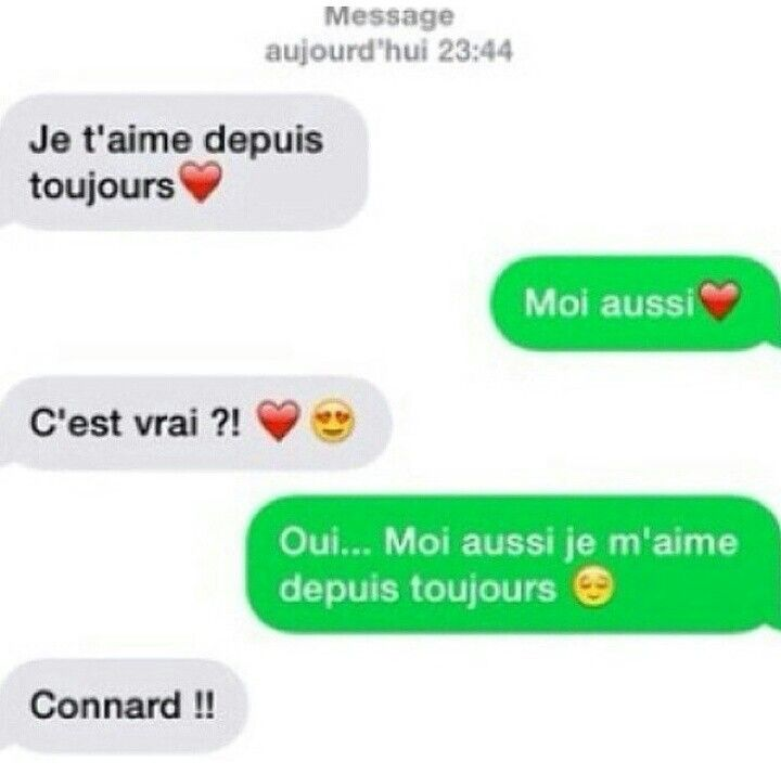 Sms je t'aime marrant