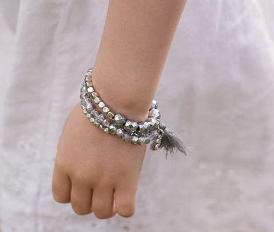 Toddler Hematite Bracelet Set, amber necklace, bracelets for kids